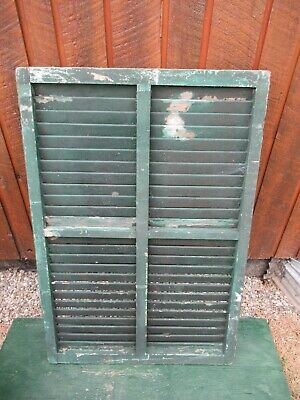 """VINTAGE OLD  SHUTTER Wooden 42"""" long x 28"""" Wide Architectural Salvage #15"""