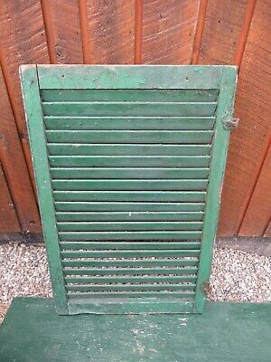 """VINTAGE OLD  SHUTTER Wooden 34"""" long x 22"""" Wide Architectural Salvage #17"""