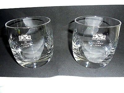 Sports Memorabilia Drinking Glasses/tumblers Olympic Memorabilia 2 Sports Aid Foundation In Olympic Year S.a.f