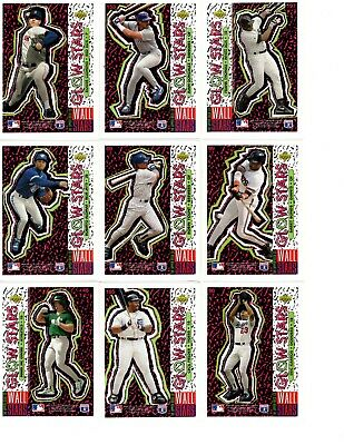 1993 Upper Deck Glow Stars (26) Different - All NM or MINT, Ripkin, Griffey more