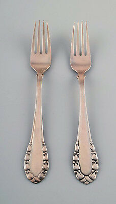 Georg Jensen Lily of the valley silver dinner fork. 2 pcs. in stock.
