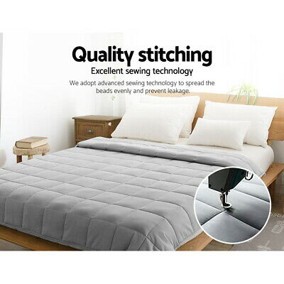 Heavy Weighted Blanket Cotton Cover Bedding Sleep Snuggle Deep Relax Gravity NEW