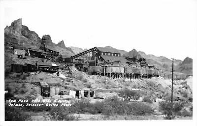 RPPC Tom Reed Gold Mine & Mill, Oatman, Arizona Mining ca 1950s Gallup Postcard