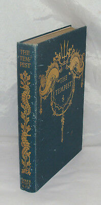 Antique Illustrated Book The Tempest By Shakespeare Paul Woodroffe Pott 1908