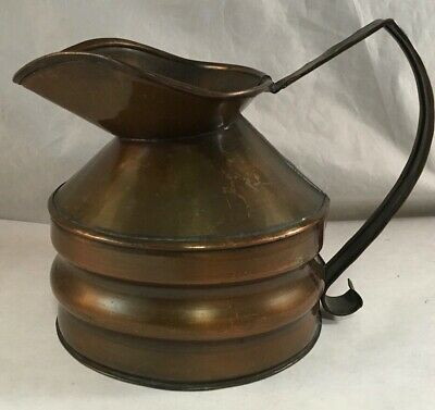 Vintage Hammered Copper Arts And Crafts Craftsman Co #301 Pitcher Ewer