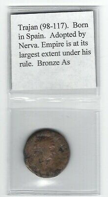 Ancient Roman Imperial Bronze Coin, Trajan