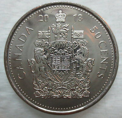 2013 Canada 50 Cents Proof-Like Half Dollar Coin