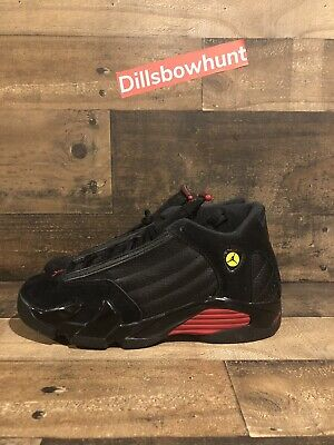 wholesale dealer a5af2 76563 BOYS RETRO NIKE AIR JORDAN 14 XIV LAST SHOT BLACK RED GRADE SCHOOL Sz 6Y  Volt 6