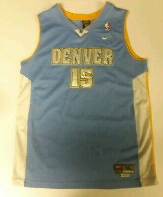 uk availability dc761 58a61 NIKE DENVER NUGGETS Jersey Men's Large L Carmelo Anthony #15 ...