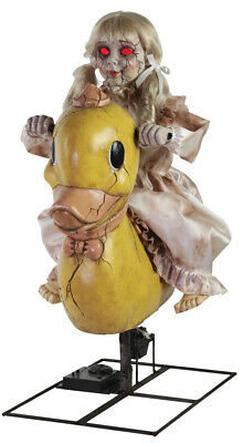 Halloween Life Size Animated Rocking Ducky Duck Doll Prop Haunted