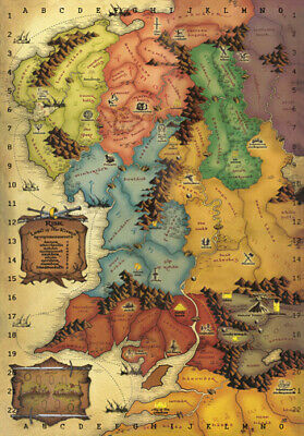 LORD OF THE RINGS * Map Of Middle Earth * LARGE A3 SIZE QUALITY CANVAS  PRINT