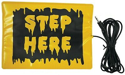 Halloween Step Here Pad Animated Animatronic Prop Try Me Decoration