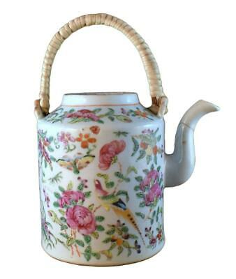 Antique Early 19Th Century Chinese Porcelain Famille Rose Teapot