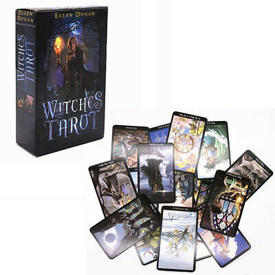 English Edition Witch Tarot Deck Future Fate Indicator Forecasting Card