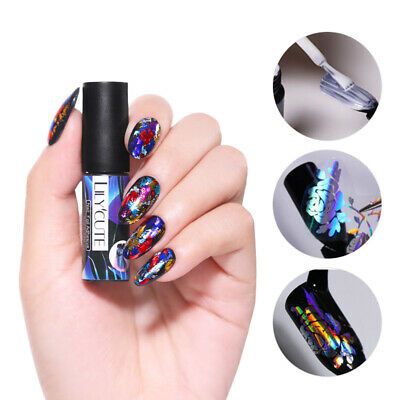 LILYCUTE 5ml Nail Adhesive Glue for Nail Foil Transfer Sticker Design Tools