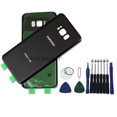 OEM Black Battery Door Back Glass Cover Housing For Samsung Galaxy S8 Plus G955
