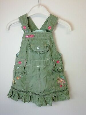 Girl's Age 6-9 months Marks & Spencer Pretty 100% Cotton Summer Dungarees Dress