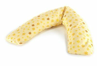 Theraline Nursing Pillow Comfort 180 cm Flowers Yellow Micro Beads New Dealer