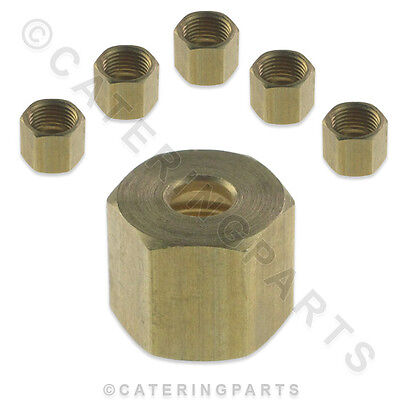 "PACK OF 6 x HOBART 722466 3/16"" GAS VALVE NUT FITS COMMANDER WOLF BROILER"