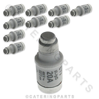 PACK OF 10 x CONVOTHERM 4005058 D02 20A E18 FUSE LINK FUSES CONVECTION OVEN 250V