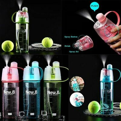 Protable Water Bottle With Straw Drinks Spray Cup Cycling Climbing Hiking Sports