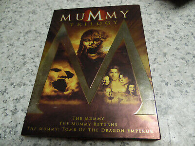 The Mummy Trilogy (DVD, 2012)1,2,3*Returns*Dragon Emperor  w/Slip Cover