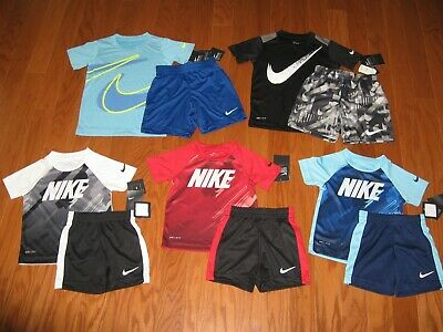 Nike 2 Piece T-Shirt & Shorts Outfit Set Boys 2T/3T/4T/ 4/ 5/ 6   NWT