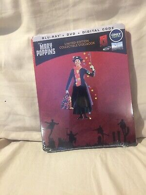Mary Poppins steelbook, bluray + dvd + digital code 2019> NOT 50TH ANNIVERSARY
