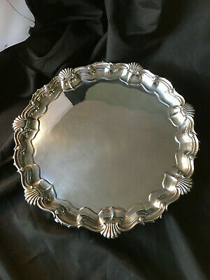 ANTIQUE STERLING SILVER TRAY, HALLMARKED LONDON c1904