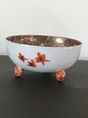 "Antique Japanese Mini 1 1/2"" Footed Bowl"