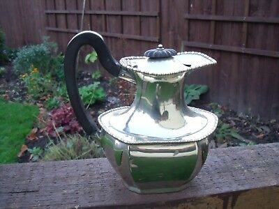 Antique Art Deco Silver Plated Water Jug with Bakelite Handle & Finial holds 1pt