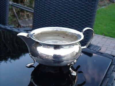 Silver Plated Milk Jug with Three Claw Feet ~ Yeoman Plate