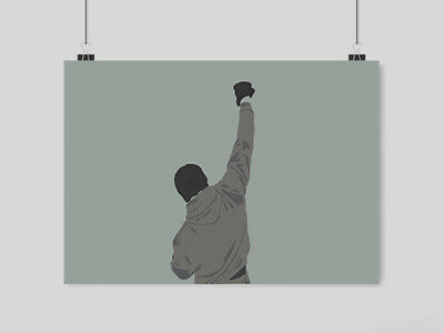 Rocky Balboa Classic  Movie Poster Image Print A4 A3 Size
