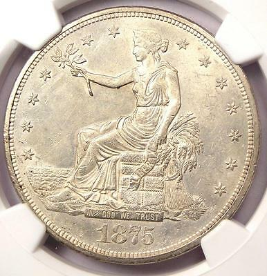 1875-CC Trade Silver Dollar T$1. NGC Uncirculated Details (MS UNC) - Nice Luster