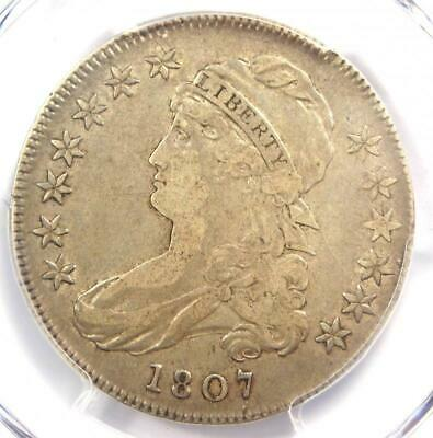 1807 Capped Bust Half Dollar 50C Coin (Large Stars) - PCGS VF30 - $1,650 Value!