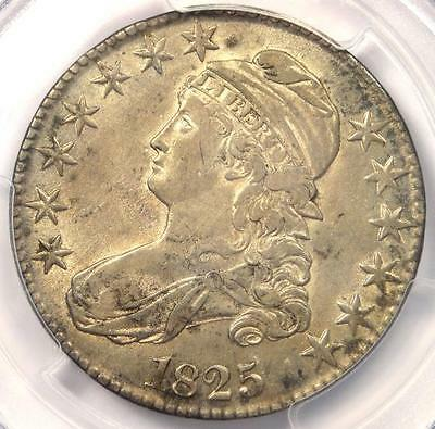 1825 Capped Bust Half Dollar 50C O-101 - PCGS AU Details - Rare Certified Coin
