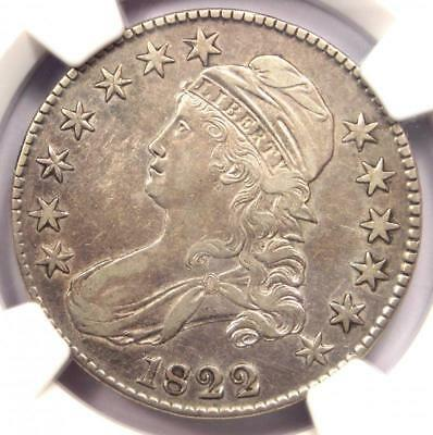 1822 Capped Bust Half Dollar 50C O-108 - NGC XF Details - Rare Certified Coin!