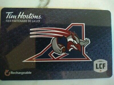 Collectable Tim Hortons Allouettes Gift Card #Fd61808 ..No Monatary Value