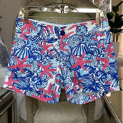 54db79cb62c582 LILLY PULITZER DRIPPING In Jewels Callahan Shorts Size 00 XS XXS $64 ...