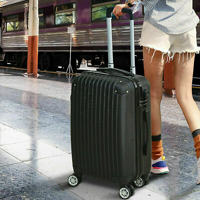 "28"" Luggage Sets Suitcase Blue&Black TSA Travel Hard Case Lightweight"