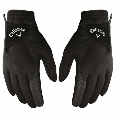 Callaway Golf Mens 2019 Thermal Grip Fleece Lined Leather Palm Gloves - Pair