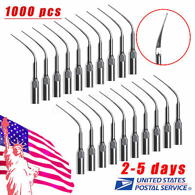 1000X Dental Perio Scaling Tips PD3 for DTE SATELEC Ultrasonic Scaler USA USPS**