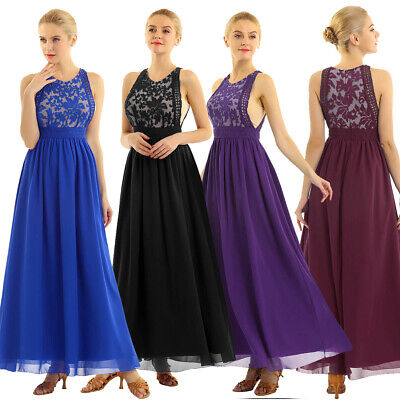 Women's Lace Gown Formal Evening Party Dresses Bridesmaid Dress Cocktail Prom