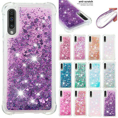 For Samsung Galaxy A50 A20 A30 A70 Shockproof Glitter Quicksand Soft Cover Case