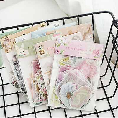 64pcs Stationary Laptop Photo Journal Stickers Diary Label Phone Decor Stickers