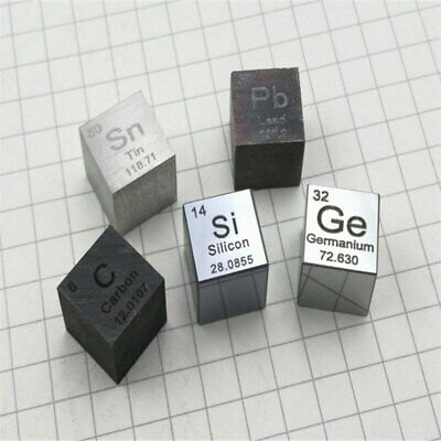 Metals and elements Periodic table cubes Side length 10mm W≥99.95%