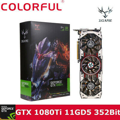 Colorful iGame GTX1080Ti Vulcan AD 11GB Video Graphics Card 1594/1708MHz forNIER