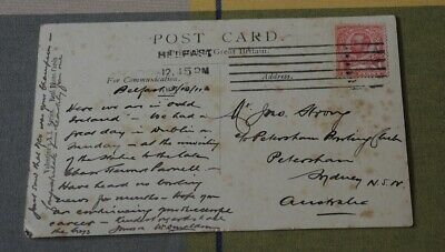 1911 Card Addressed To Petersham Bowling Club Nsw Strong Yeo Donaldson #11