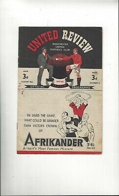 Manchester United v Charlton Athletic Football Programme 1947/48