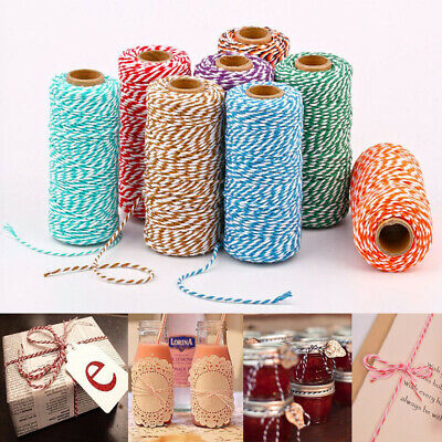 100M Rope Baker Twine Cotton Cord Christmas Wedding Gift Ribbon String Rope AU